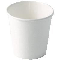 Bicchiere in cartone bianco 120ml diam. 62 mm-0