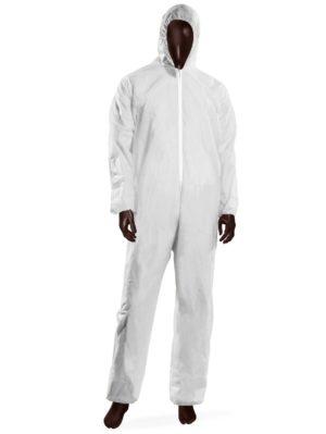 Tuta monouso HOOD 40 -XL-Bianco-0