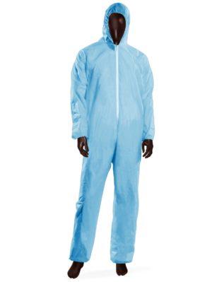 Tuta monouso HOOD 40 -XL-Azzurro-0