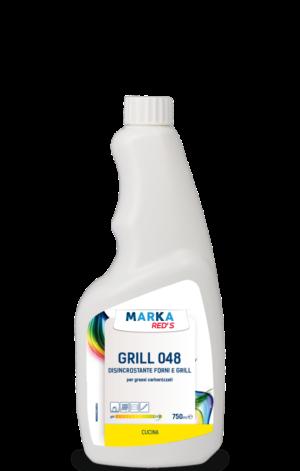 GRILL 048 DISINCROSTANTE FORNI E GRILL per grassi carbonizzati HACCP-0