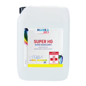 SUPER HG super igienizzante alcolico pronto all'uso non residuale LT 10-0